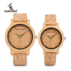 Aurora V2 Bamboo Leather Lovers' Wristwatches-Bamboo Diaries
