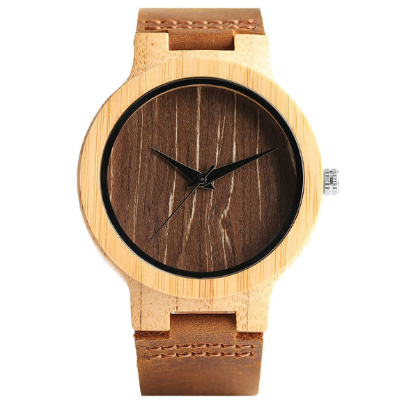 Verztyle Vintage Bamboo Wooden Men Watch-Bamboo Diaries