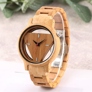 Kirsten Unisex Bamboo Wooden Watch-Bamboo Diaries