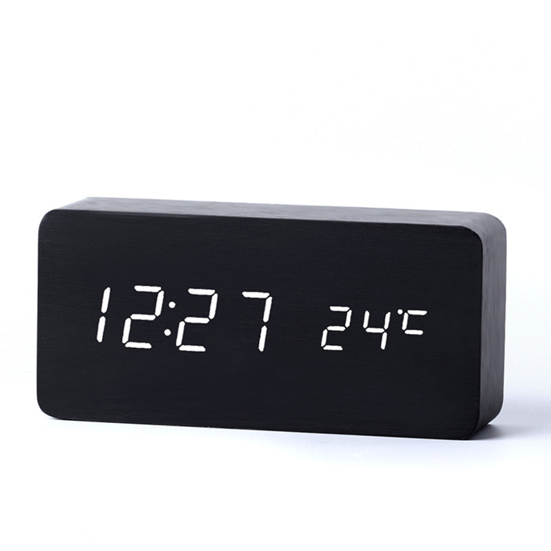 Modern Wooden Digital LED Alarm Clock (Sound control) – Bamboo Diaries