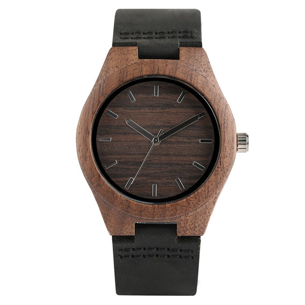 Maple Coffee Bamboo Wooden Watch-Bamboo Diaries