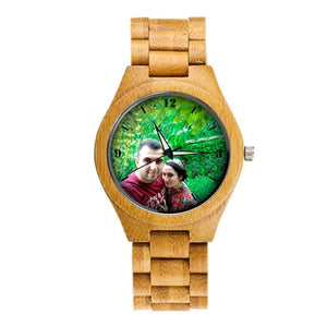 Valentino Unisex Bamboo Wooden Wristwatch (Green Campaign Series)-Bamboo Diaries