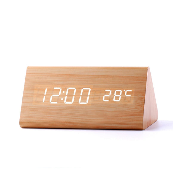 clock High Quality Wooden LED Digital Alarm Clock - Bamboo Diariesyellow white clock