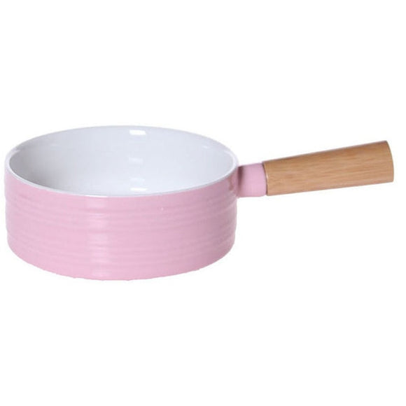 Kitchenware Food Bowl With Bamboo Handle - Bamboo DiariesPink