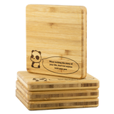 Coasters Personalized Bamboo Coaster - Quote of the day - Bamboo Diaries
