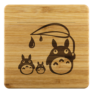 Personalized Bamboo Coaster - Totoro Style 4-Bamboo Diaries