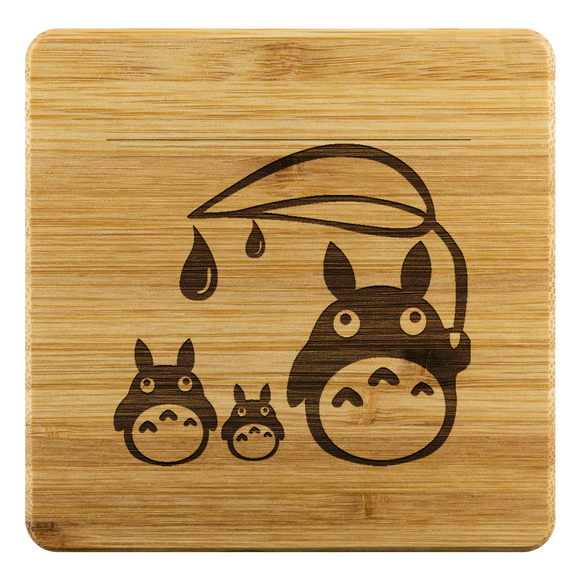 Personalized Bamboo Coaster - Totoro Style 4