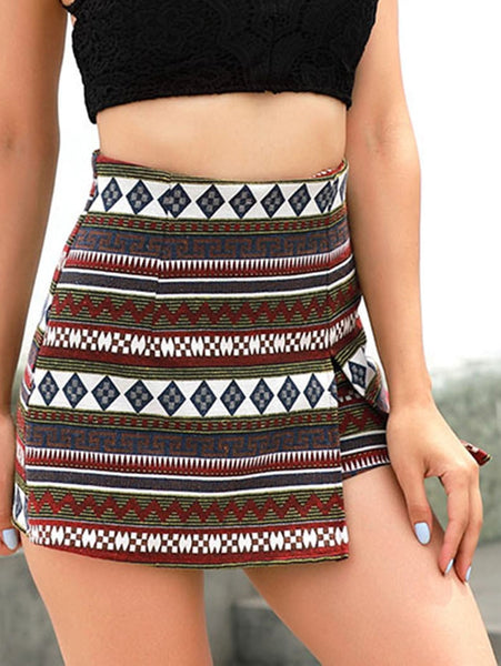 Copy of High Waist Patterned Shorts