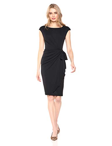 Cap Sleeve Bateau Neck Wrap Dress