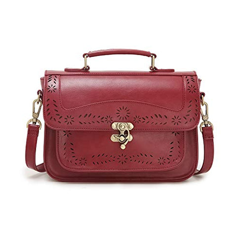 Vintage Girl's Faux Leather Satchel Purse