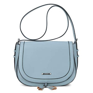 ECOSUSI Women's Saddle Bag with Flap Top & Tassel