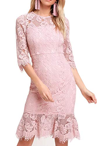 Lace Bodycon Mermaid Midi Dress €™