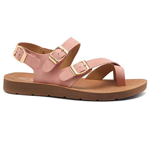 Sure Thing Women's Open Toe Gladiator Flat Thong Sandals
