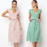 Vestidos Spring Stripe Dress