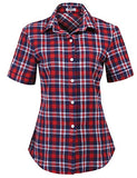 Flannels Tartan Plaid Shirts Roll Up Long/Short Sleeve