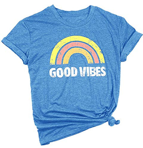 Graphic Tees Good Vibes Shirt Short Sleeve