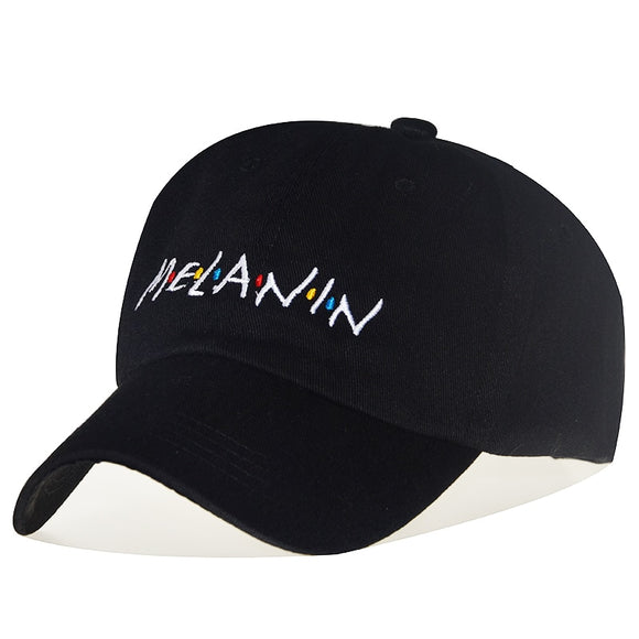 MELANIN Adjustable Solid Color Baseball Cap