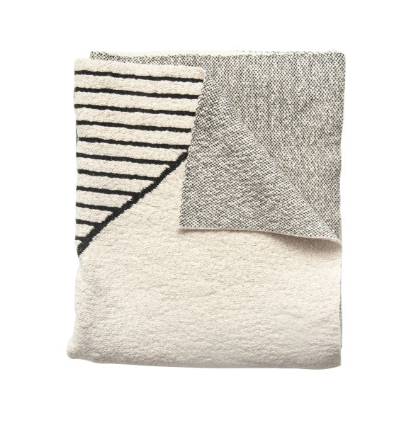 Patterned Cotton Knit Throw