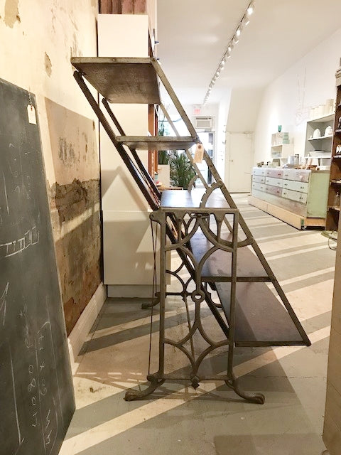 Antique Adjustable Bakers Shelves