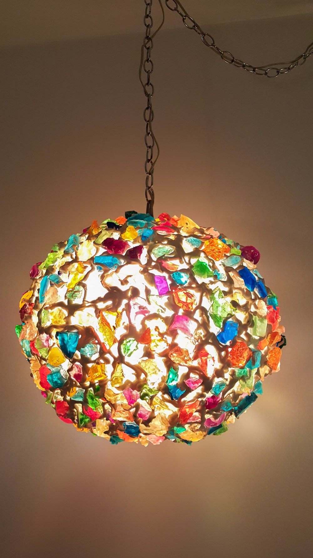 1960s Rock Candy Swag Lamp