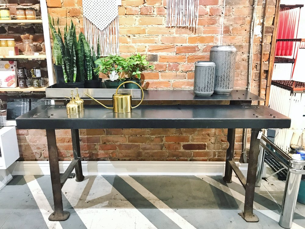 Metal Industrial Table - Two Tier