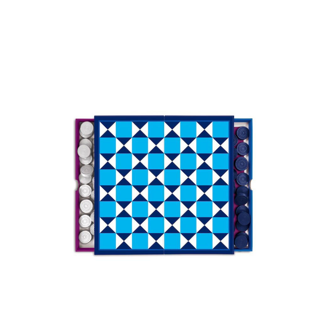 Jonathan Adler Backgammon & Checkers 2-in-1 Travel Set