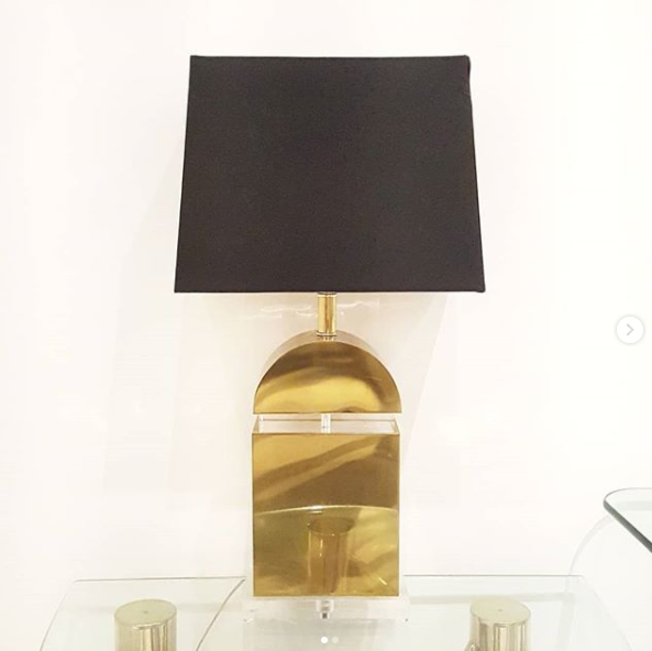 Gold & Lucite Accent Lamp
