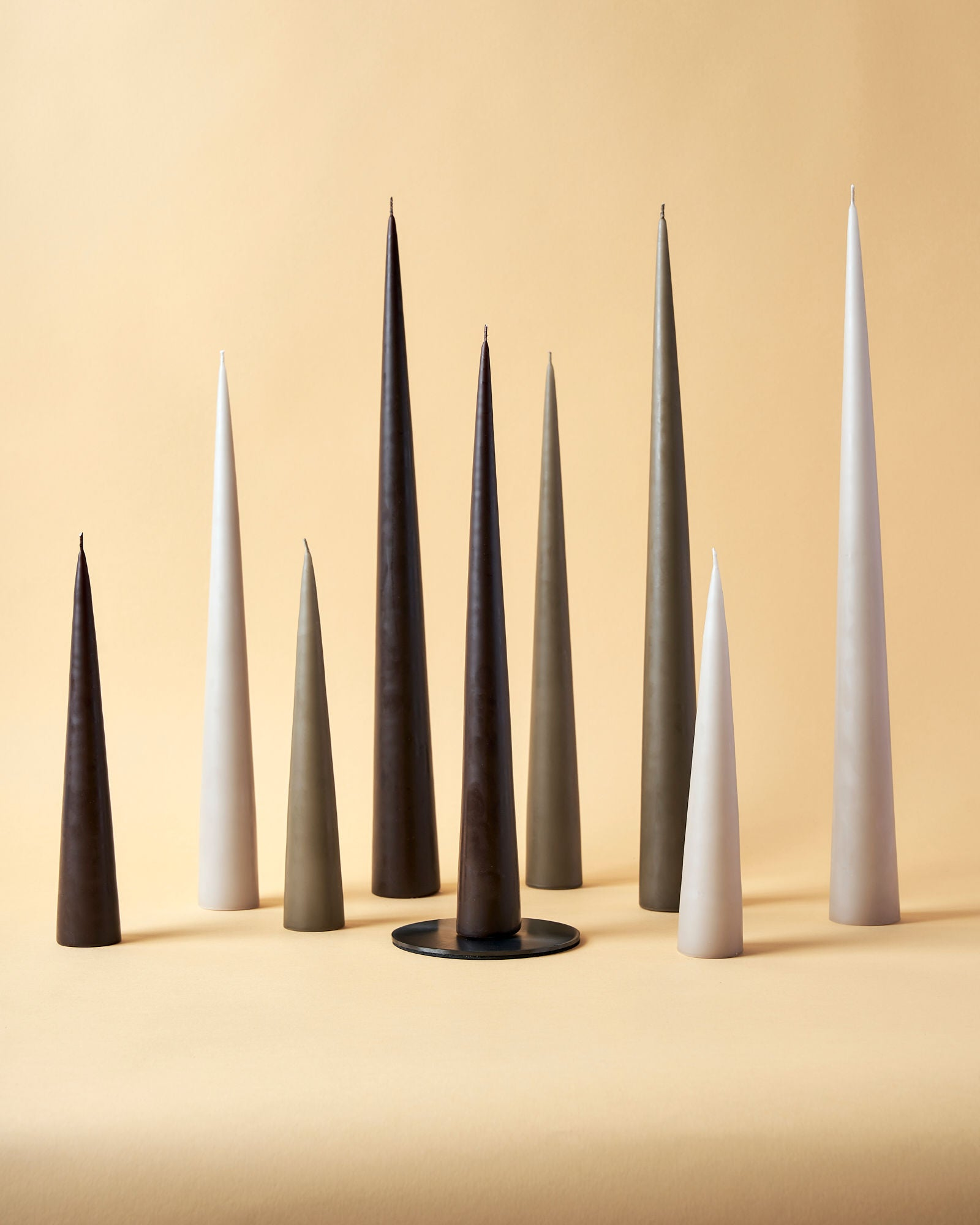 Selection of Hand-Dipped Cone Candles