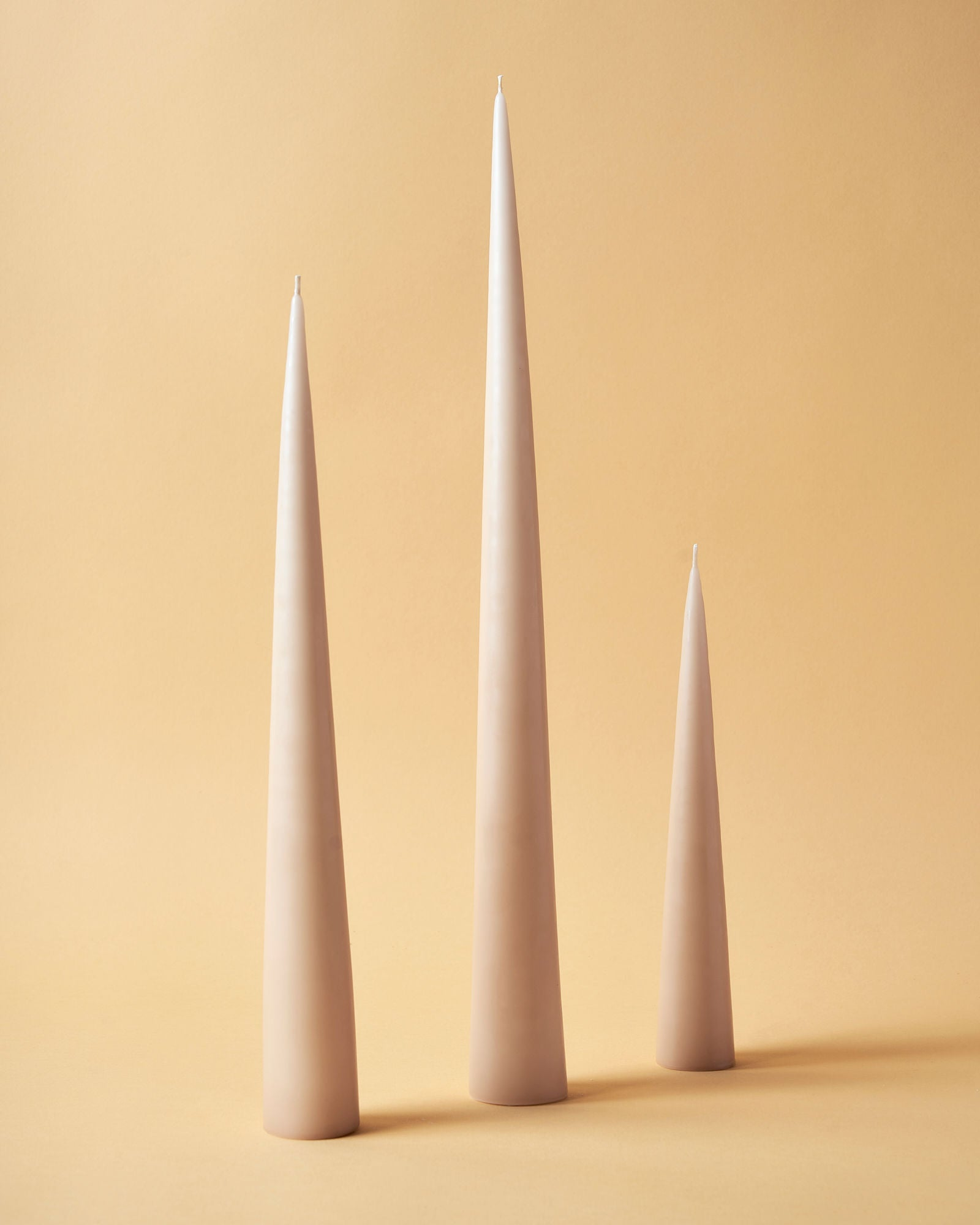 Neutral Matte Cone Candles by Ester & Erik