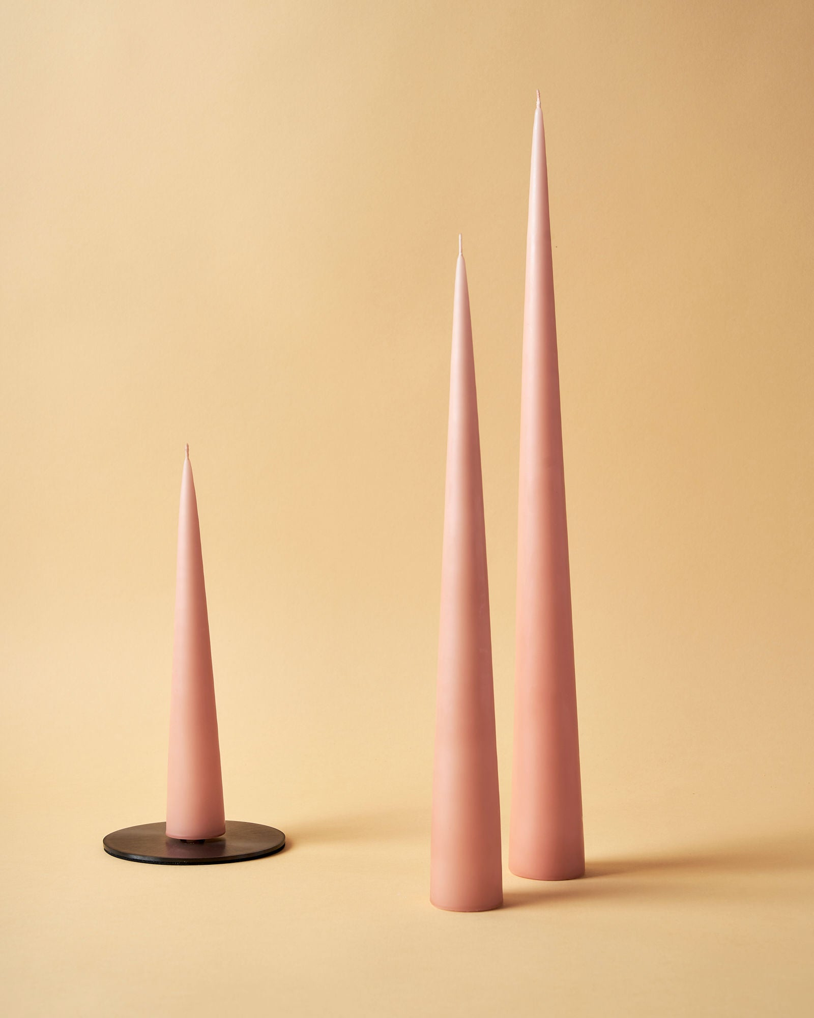 Powder Matte Cone Candles by Ester & Erik