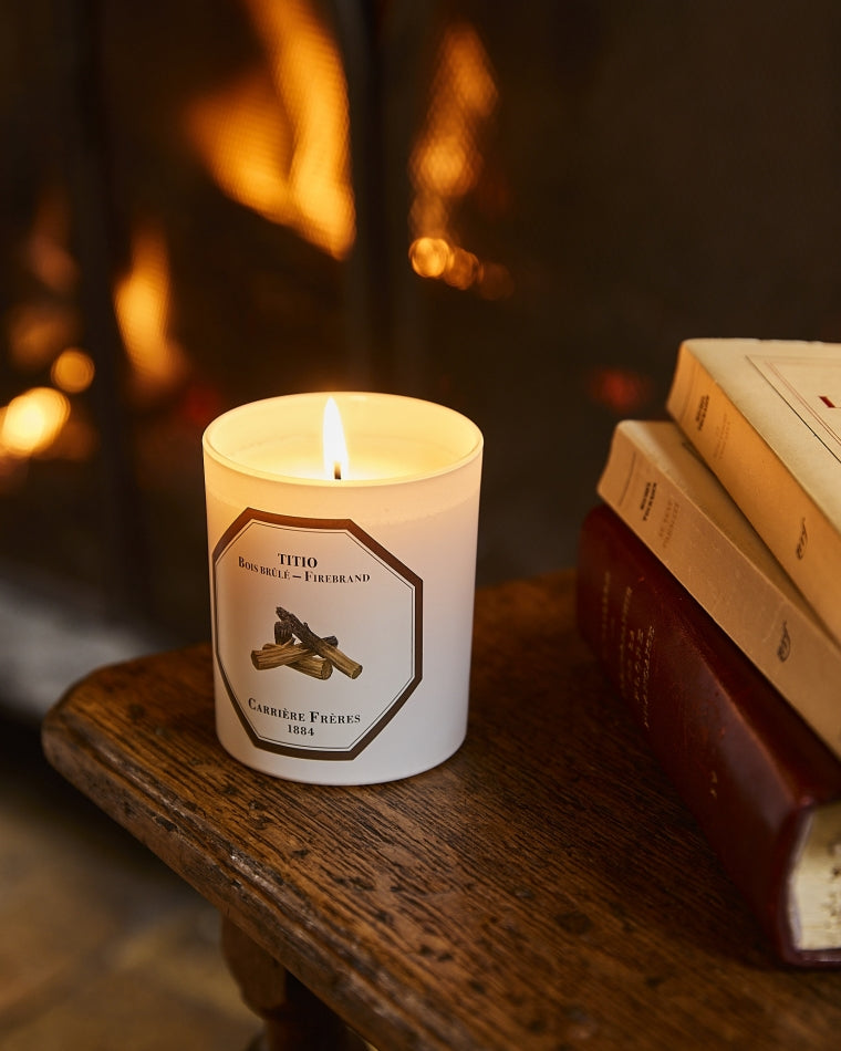 Firebrand Candle by Carrière Frères