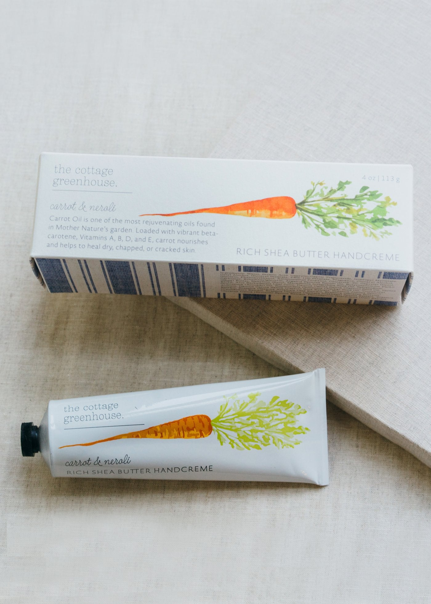 Carrot & Neroli Handcreme by Cottage Greenhouse