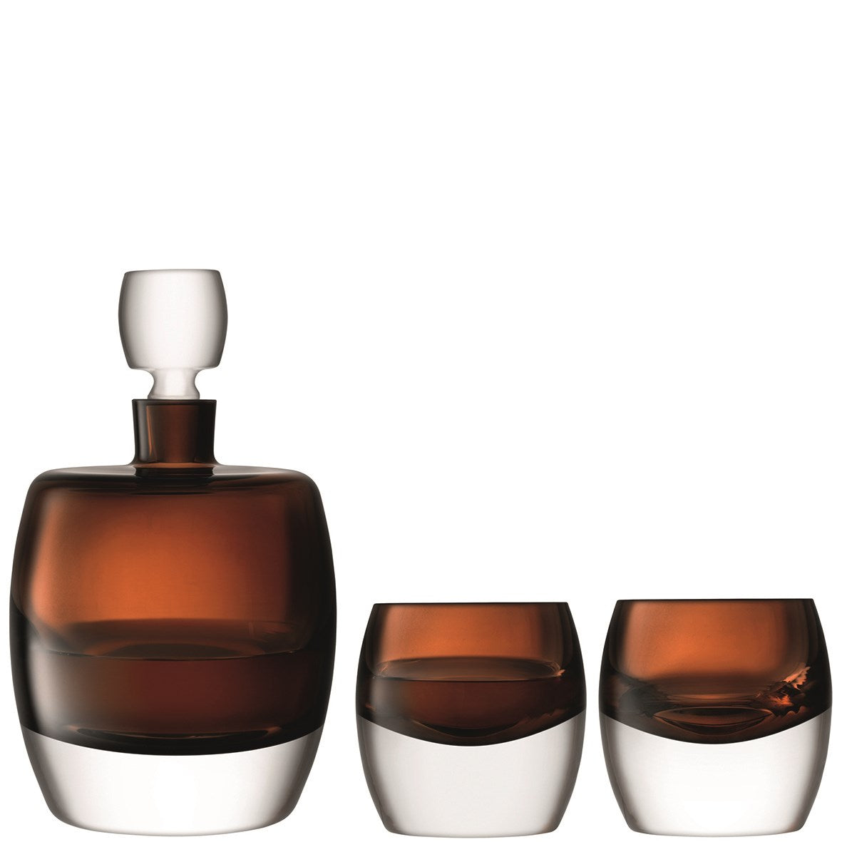 Whiskey Club Decanter & Tumblers Set - Peat