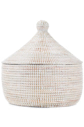 Large White Senegalese Warming Basket