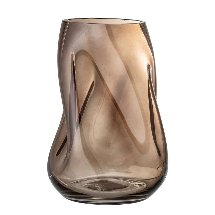 Brown Swirl Vase