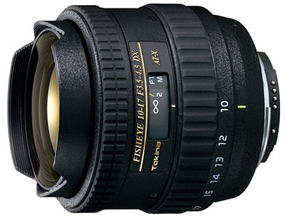 Tokina AT-X 10-17mm F3.5 - 4.5 AF DX Fisheye for Canon