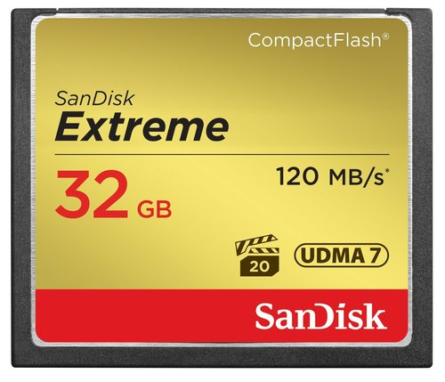 Sandisk 32GB Extreme Compact Flash 120MB/s 800x Speed Card