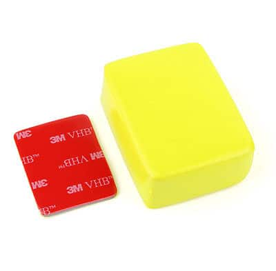 SJCAM Floaty Sponge for GoPro Hero 3+/3/2/1 with 3M Sticker (Yellow)