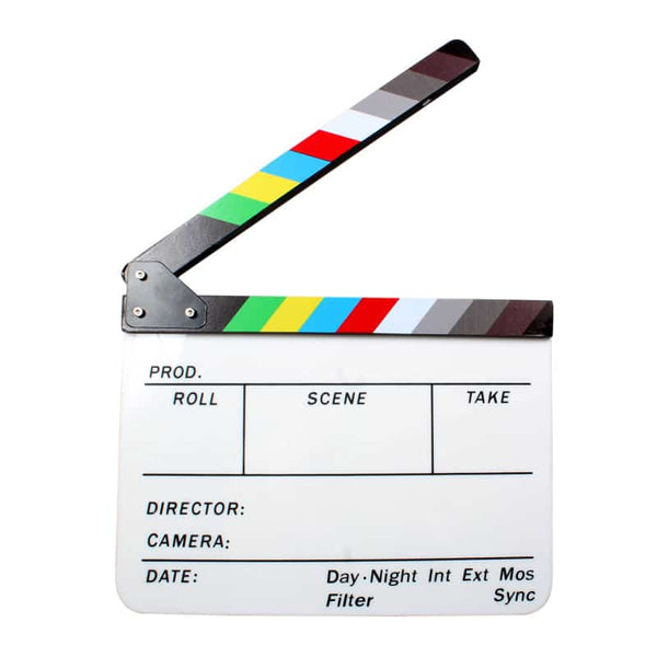 Caden Acrylic Clapperboard (White)