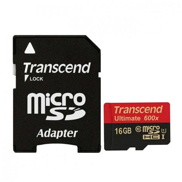 Transcend Micro SD 16GB Ultimate 90mb/s (Class10 600x)