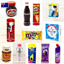 Load image into Gallery viewer, Mini Coca Cola, Scholl, M&M's, Pringles...