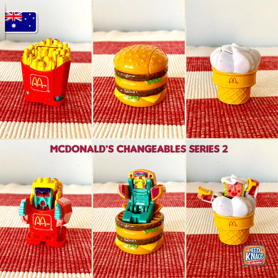 McDonald's Changeables Series 2 | McRobots | McDonald's Collectables | AU STOCK