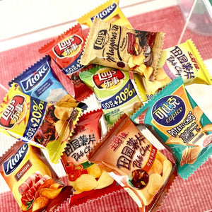 Mini Potato Chips Packets x11 - Miniature dollhouse 1:12