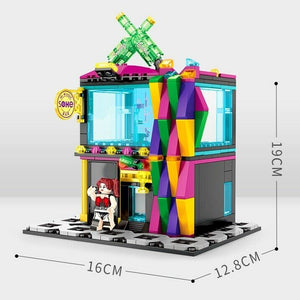 Sembo Block 601022 | KTV Music Bar with Three Figures | Creative Building Blocks