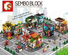 Load image into Gallery viewer, Sembo Block 601023 | Flower Shop with Three Figures | Creative Building Blocks