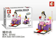Load image into Gallery viewer, SEMBO Block 601002 | BRIDAL SHOP | Mini Street Collections | Creative Building Blocks