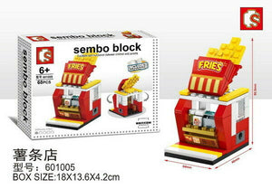 SEMBO Block 601005 | CHIPS STORE | Mini Street Collections | Creative Building Blocks