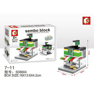 SEMBO Block SD6604 | 7-11 Convenience Store | Creative Building Blocks