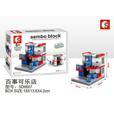 SEMBO Block SD6607 | Soda Shop | Creative Building Blocks