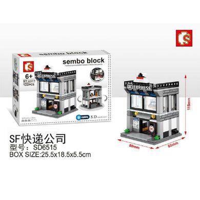 Sembo Block SD6515 | COURIER | LIGHTS UP! | Mini Street Building Block w LED Light